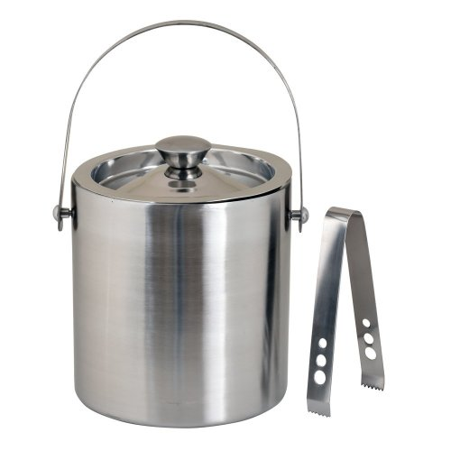 Kosma Stainless Steel Double Wall Ice Bucket with Tongs | Ice Cube Bucket - 1.5 Litre | Make Ultimate Gifts for Christmas, Birthday, Wedding,...