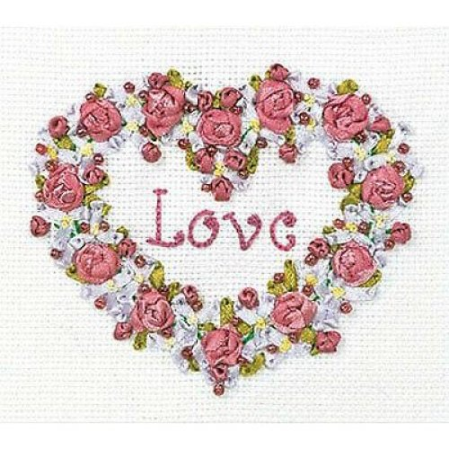 Panna Ribbon & bead Embroidery Kit - V-0996 Everlasting Story