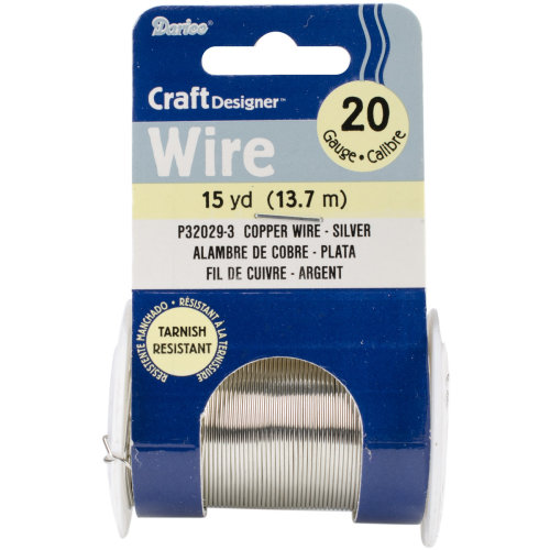 Beading Wire 20 Gauge 15yd-Silver Colored Copper Wire