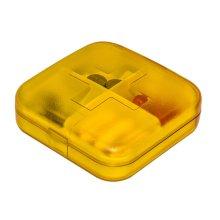 Portable 4 Slots Plastic Travel Pills/Vitamins Box Multi-Purpose Organizer