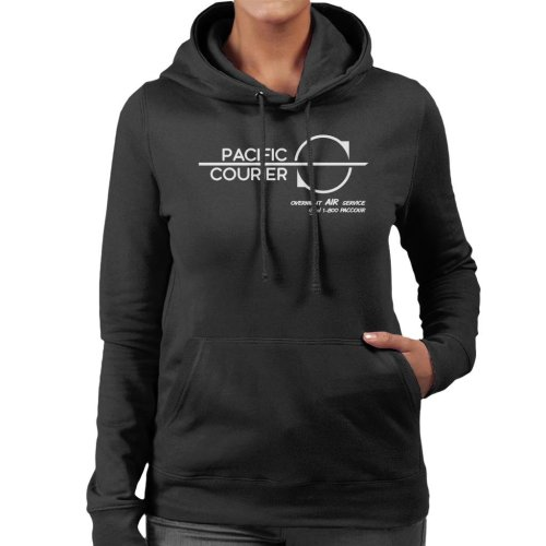 Pacific Courier Overnight Air Service Die Hard Women's Hooded Sweatshirt