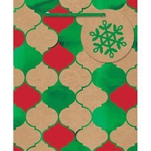 Christmas Quatrefoil Small Bag -
