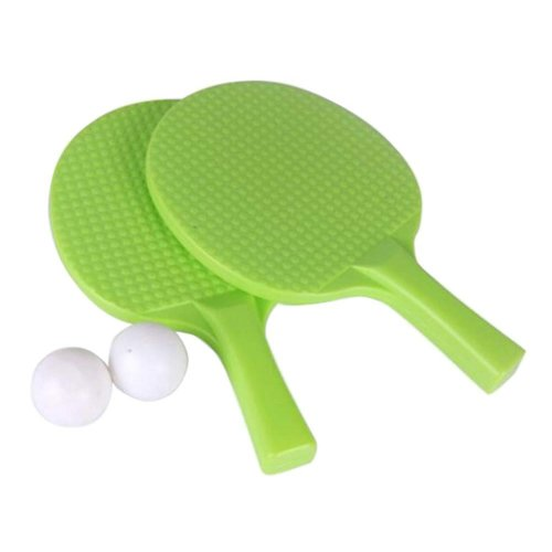 Children Table Tennis Racket Leisure Sports Toy Set-Green