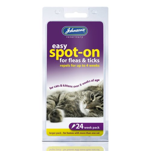 Jvp Cat Easy Spot-on For Fleas & Ticks 24 Week (Pack of 6)