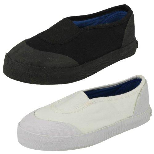 Unisex Spot On Slip On Canvas Shoes