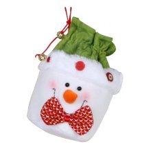Creative Large Christmas Stocking / Christmas Gift Bag, White