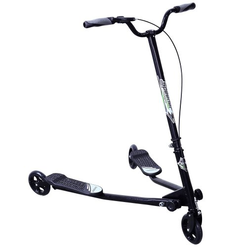 Homcom Kids 3 Wheels Foldable Speeder Push Scooter Tri Slider Large