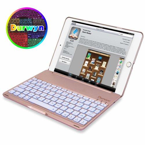 iPad 9.7 ( 2018 / 2017 ) Backlight Keyboard Case , Durwyn Backlight 7 Colors Keyboard iPad 9.7 Case For 2018 iPad 9.7 (6th Gen) - 2017 iPad 9.7...