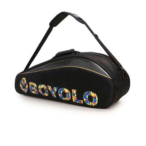 Single Shoulder Waterproof And Dustproof Racket Bag 6 Racquet Bag,Black