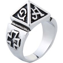 Pyramid Ring Personalized Ring For Men Unique Ring