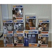 Funko Pop! Doctor Who Complete Set of 9 vinyl figures including TARDIS.