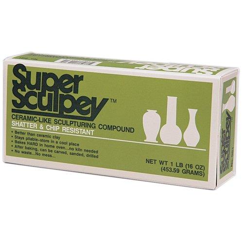 Super Sculpey Polymer Clay 1lb-Beige