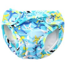 Reusable Swim Diaper Adjustable Absorbent Shower Diapers for Baby Toddler, A01