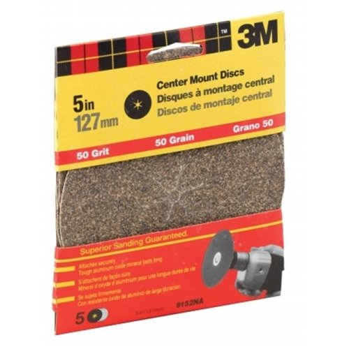 3m 5in. Coarse Grit Center Mount Discs  9152DC-NA