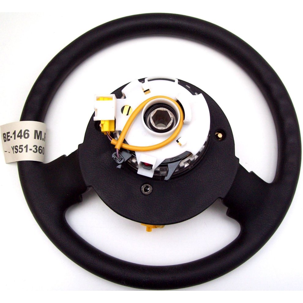 Ford KA Black 2 Spoke Steering Wheel + Airbag Squib 111130 YS51-3600-AAW New