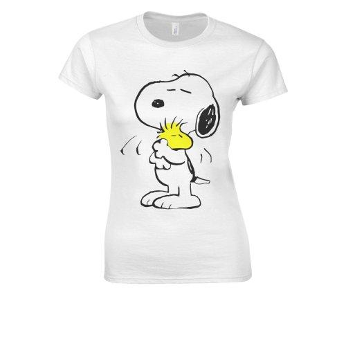 Snoopy PEANUTS Cartoon Happy Cute White Women T Shirt Top