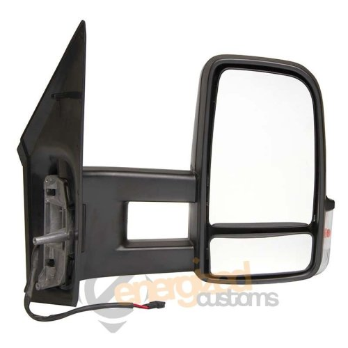 Mercedes Sprinter Van 2006- Manual Black Long Arm Wing Door Mirror Drivers Side