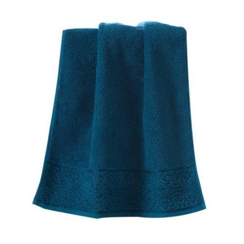 Soft Absorbent Cotton Towels Thicken European Solid Color Bath Towel, Royal Blue