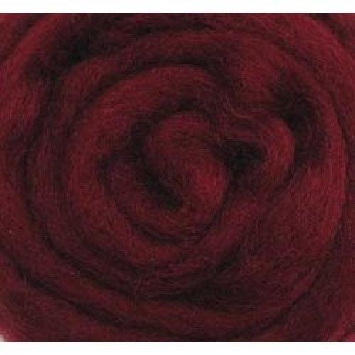 "Wistyria Editions Wool Roving 12"" .22oz-Raspberry"