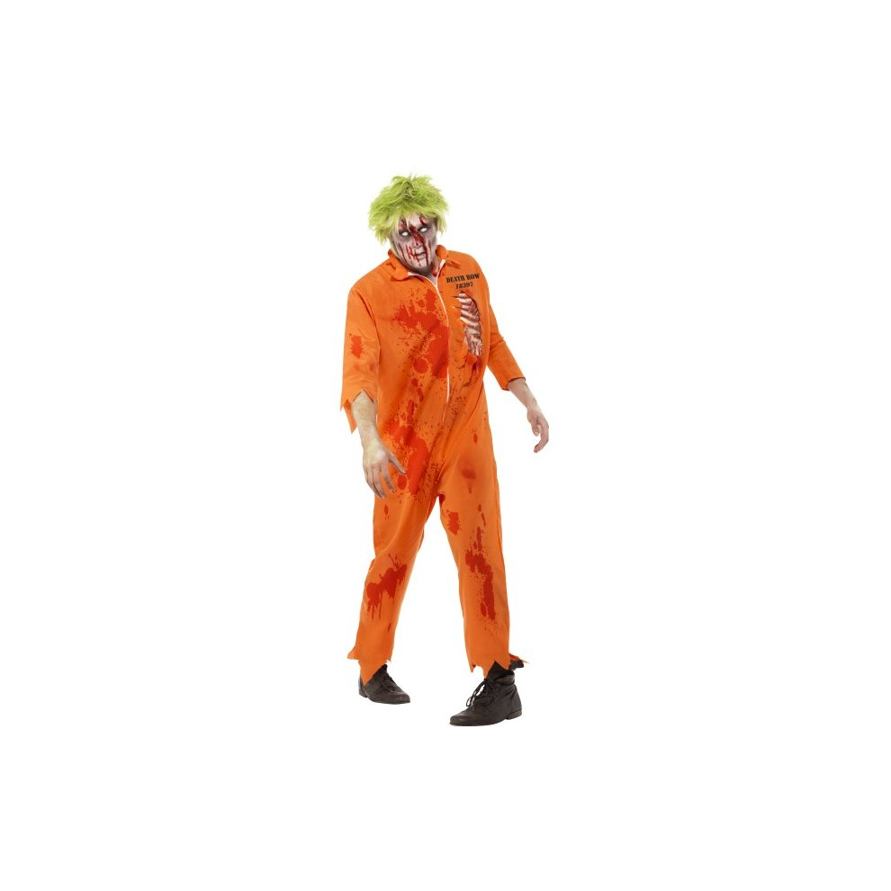 adult's zombie death row inmate costume - zombie halloween costume
