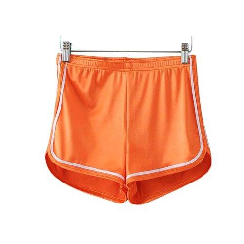 Women's Hot Gym Sport Shorts Shiny Metallic Pants, #A 8