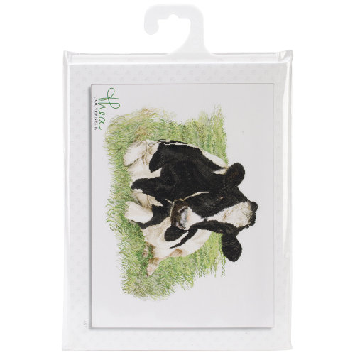"""Cow On Linen Counted Cross Stitch Kit-23.625""""X17.75"""" 32 Count"""