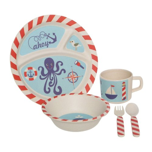 Eden 5Pc Kids Pirate Dinner Set