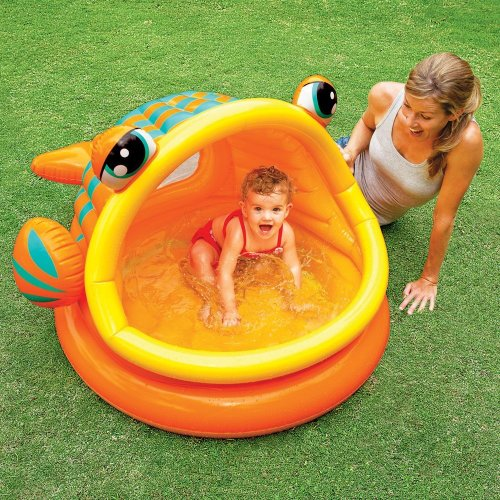 Intex Lazy Fish Baby Paddling Pool or Ball Pond #57109