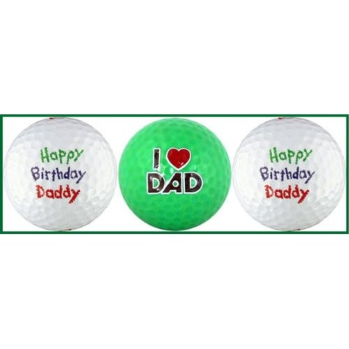 Happy Birthday Daddy w/ Love You Golf Ball Gift Set