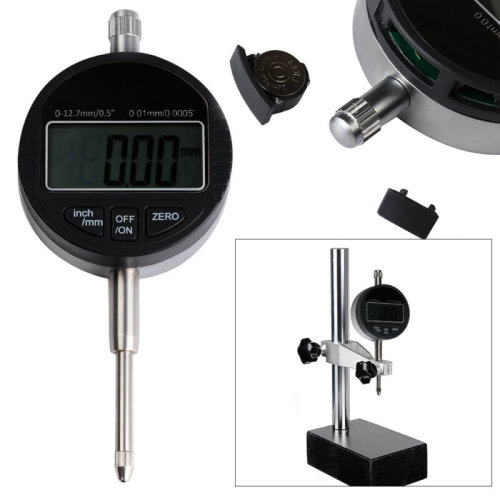 Probe Indicator Gauge Digital Dial 0-25.4mm/1'' Clock DTI 0.01mm/0.0005'' Test