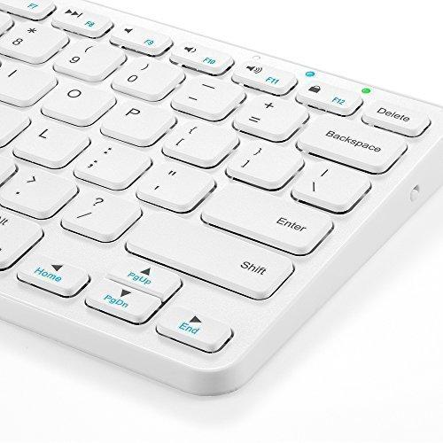 Universal Bluetooth Wireless Keyboard, Anker Ultra Compact Slim Profile - White