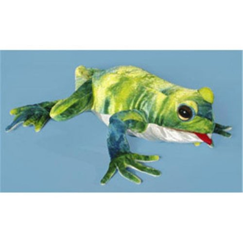 Sunny Toys NP8217 12 In. Frog - Green, Animal Puppet