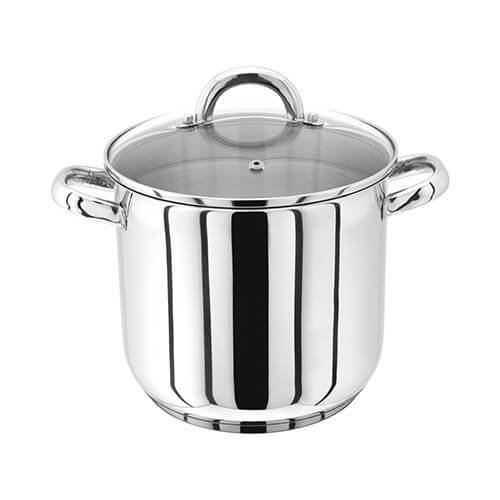 Judge 20cm Stainless Steel Stockpot With Vented Glass Lid, 5 Litre
