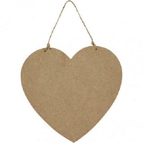 Wooden MDF Heart Shaped Plaque - 18.5cm x 19.5cm