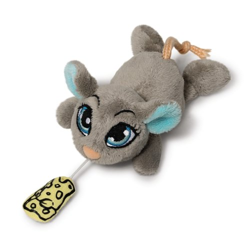 Nici 37760Sweethearts Mouse Soft Toy with Moving Chip, 12cm, Grey