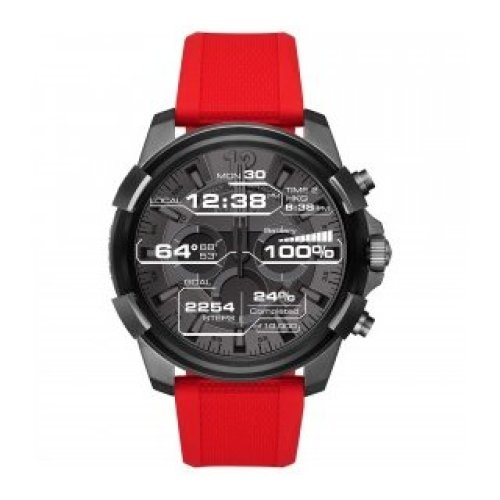 DIESEL SMARTWATCH FULL GUARD RUBBER RED DZT2006