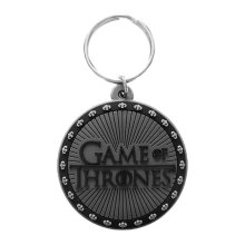 Game Of Thrones Rubber Keyring - Logo - Keychain Official Gift -  game thrones logo keyring rubber keychain official gift