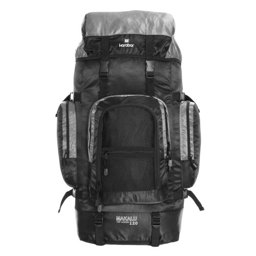 Karabar Makalu 120 Litres Travel Backpack, Black/Grey