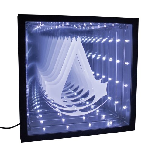 Assassin's Creed Logo Infinity Light Optical Illusion LED Mood Lamp
