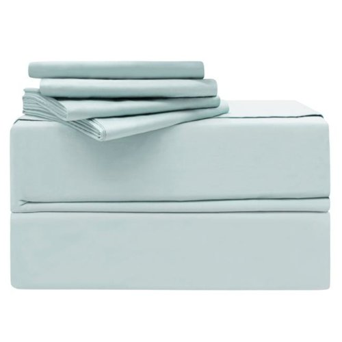 Simply the Best YMS008201 Luxury 620 Thread Count 100 Percent Cotton Sheet Set, Spa Blue - King - 6 Piece