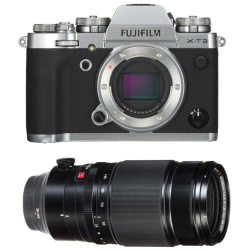 FUJI X-T3 Silver + XF 50-140MM F2.8 R LM OIS WR Black