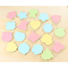100 Sheets Colourful Assorted Shapes Sticky Notes