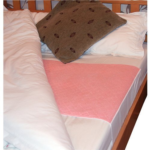 Single Bed Washable Reusable Incontinence Sheet Pad With Tucks 2 Litre Capacity