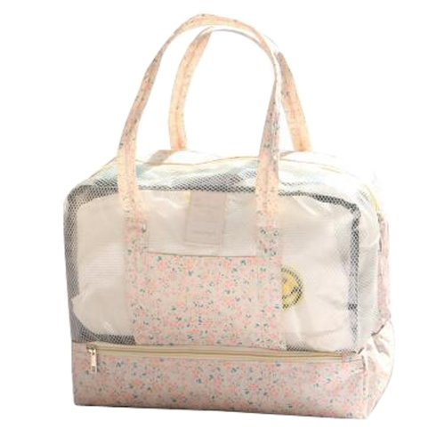 ef9e647e0936 Waterproof Sports Bag Dry and Wet Separation Swimming Handbag Storage  Package 36x18x29CM(Pink)