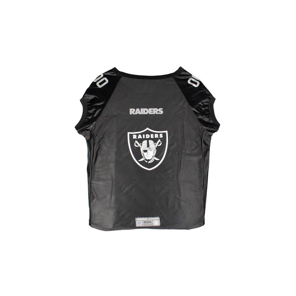 90588d4c Little Earth 320135-RAID-BIG NFL Pet Premium Jersey, Oakland Raiders - Big  Dog