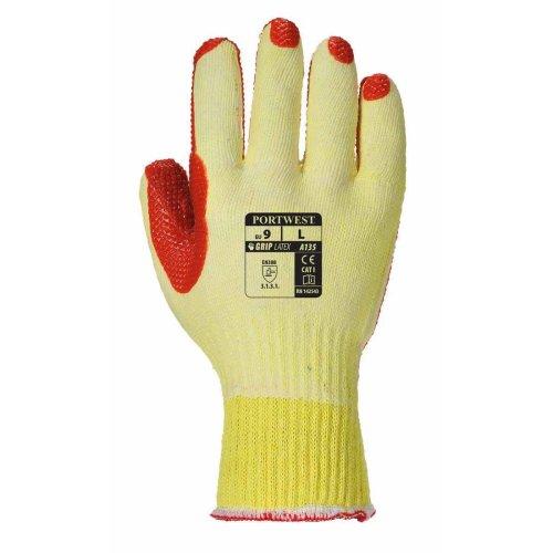 sUw - Tough Grip  Palm Dipped Gripper Gloves (1 Pair Pack)