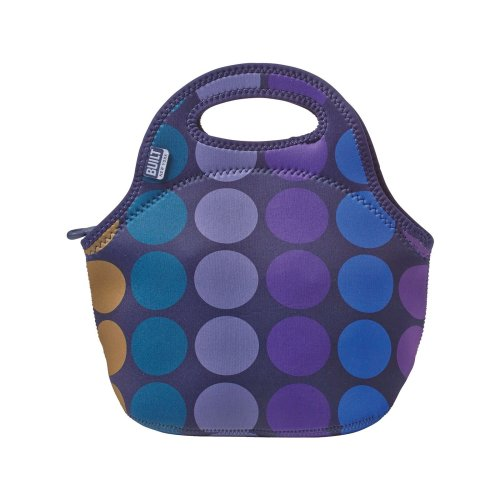 BUILT Gourmet Getaway Lunch Tote - Plum Dot