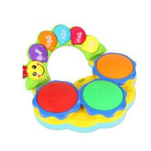 Musical Electric Baby Toys Hand Drum Instrument Percussion Set for Children, Playing Hamster@Blue