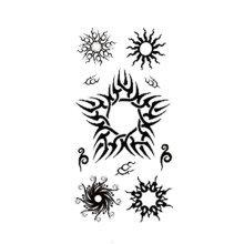 9fe421888 Panda Superstore · 1 Set Of Special Sun Pattern Tattoo Stickers Waterproof