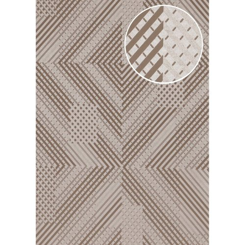 ATLAS XPL-564-5 Graphic wallpaper shimmering grey beige grey 5.33 sqm